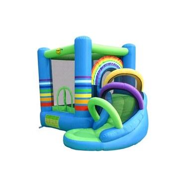 Castelo arco iris com escorregador proes brinq for Piscina inflavel arco iris intex playground com escorregador